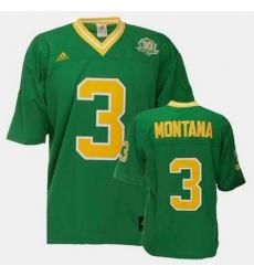 Men Notre Dame Fighting Irish Joe Montana College Football Green Jersey