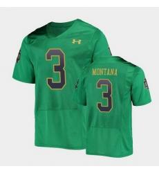 Men Notre Dame Fighting Irish Joe Montana College Football Green Replica Jersey