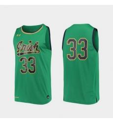 Men Notre Dame Fighting Irish Kelly Green Replica College Basketball Under Armour Jersey