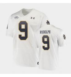 Men Notre Dame Fighting Irish Kyle Rudolph Replica White College Football Playoff Jersey
