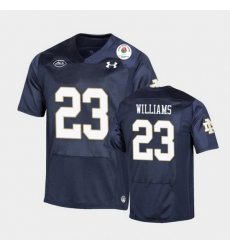 Men Notre Dame Fighting Irish Kyren Williams 2021 Rose Bowl Navy College Football Jersey