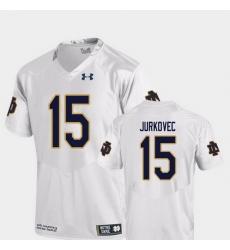 Men Notre Dame Fighting Irish Phil Jurkovec 15 White College Football Replica Jersey