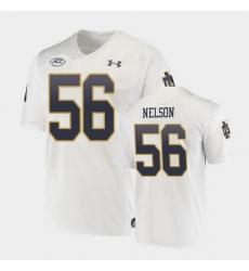 Men Notre Dame Fighting Irish Quenton Nelson Replica White College Football Playoff Jersey