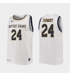 Men Notre Dame Fighting Irish Robby Carmody Replica White College Basketball 2019 20 Jersey