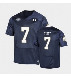 Men Notre Dame Fighting Irish Stephon Tuitt Replica Navy College Football Playoff Jersey