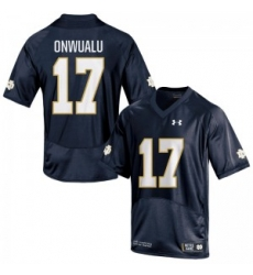 Men Under Armour 17 Limited Navy Blue James Onwualu Notre Dame Fighting Irish Alumni Football Jersey
