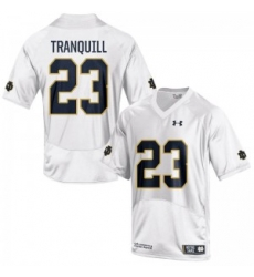 Men Under Armour 23 Limited White Drue Tranquill Notre Dame Fighting Irish Alumni Football Jersey