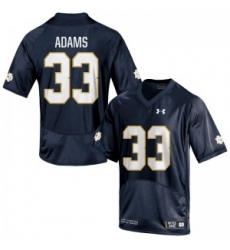 Men Under Armour 33 Limited Navy Blue Josh Adams Notre Dame Fighting Irish Alumni Football Jersey