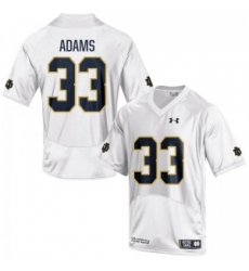 Men Under Armour 33 Limited White Josh Adams Notre Dame Fighting Irish Alumni Football Jersey