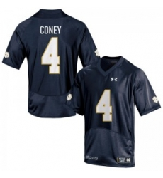 Men Under Armour 4 Replica Navy Blue Tevon Coney Notre Dame Fighting Irish Alumni Football Jersey