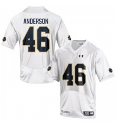 Men Under Armour 46 Limited White Josh Anderson Notre Dame Fighting Irish Alumni Football Jersey