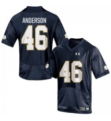 Men Under Armour 46 Replica Navy Blue Josh Anderson Notre Dame Fighting Irish Alumni Football Jersey