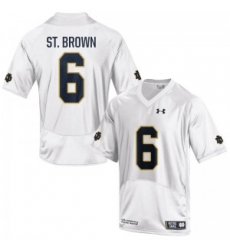 Men Under Armour 6 Replica White Equanimeous St. Brown Notre Dame Fighting Irish Alumni Football Jersey