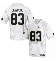 Men Under Armour 83 Limited White Chase Claypool Notre Dame Fighting Irish Alumni Football Jersey