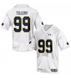 Men Under Armour 99 Limited White Jerry Tillery Notre Dame Fighting Irish Alumni Football Jersey