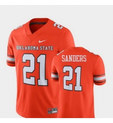 Men Oklahoma State Cowboys And Cowgirls Barry Sanders 21 Orange Alumni Football Game Player Jersey