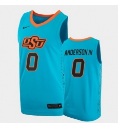 Men Oklahoma State Cowboys Avery Anderson Iii College Basketball Blue Jersey
