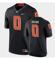 Men Oklahoma State Cowboys Ld Brown College Football Black Game Jersey