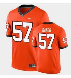 Men Oklahoma State Cowboys Ryan Baker College Football Orange Game Jersey