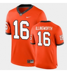 Men Oklahoma State Cowboys Shane Illingworth College Football Orange Game Jersey