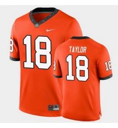 Men Oklahoma State Cowboys Shaun Taylor College Football Orange Game Jersey