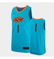 Men Oklahoma State Cowboys Turquoise Replica Alternate Jersey