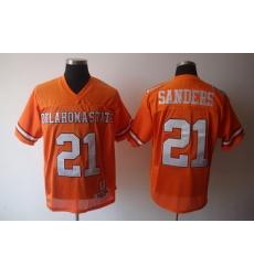 NCAA Oklahoma State Cowboys 21 Barry Sanders Orange NCAA Jerseys