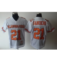 NEW BARRY SANDERS #21 OKLAHOMA STATE THROW BACK JERSEY
