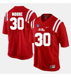 A.J. Moore Red Ole Miss Rebels Alumni Football Game Jersey