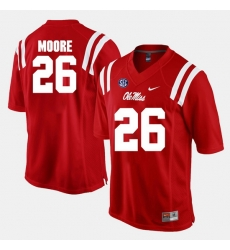 C.J. Moore Red Ole Miss Rebels Alumni Football Game Jersey