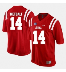 D.K. Metcalf Red Ole Miss Rebels Alumni Football Game Jersey