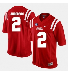 Deontay Anderson Red Ole Miss Rebels Alumni Football Game Jersey