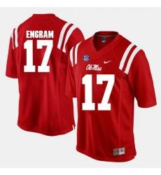 Evan Engram Red Ole Miss Rebels Alumni Football Game Jersey