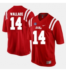 Men Mike Wallace Red Ole Miss Rebels Alumni Football Game Jersey