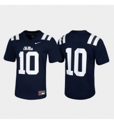 Men Ole Miss Rebels 10 Navy Untouchable Game Jersey