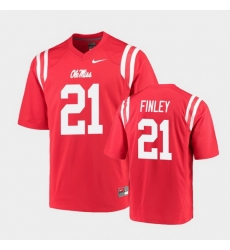 Men Ole Miss Rebels A.J. Finley College Football Red Game Jersey