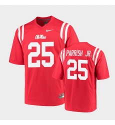 Men Ole Miss Rebels Henry Parrish Jr. College Football Red Game Jersey
