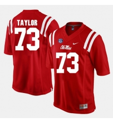 Men Rod Taylor Red Ole Miss Rebels Alumni Football Game Jersey