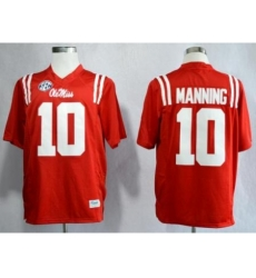 Ole Miss Rebels 10 Eli Manning Red NCAA Jerseys