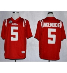 Ole Miss Rebels 5 Robert Nkemdiche Red NCAA Jerseys