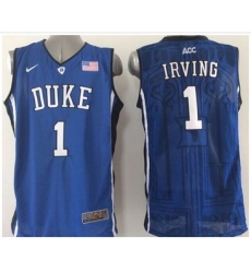 Duke Blue Devils #1 Kyrie Irving Blue Basketball Stitched NCAA Jersey