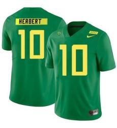 Men JUSTIN HERBERT JERSEY OREGON DUCKS #10 GREEN