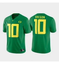 Men Oregon Ducks 10 Green Game Football Jersey