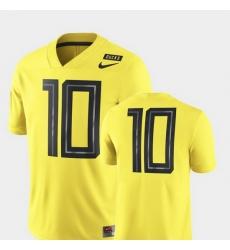 Men Oregon Ducks 10 Yellow Nike 2018 Mighty Oregon Football Game Jersey