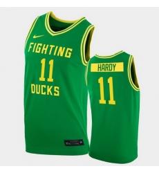 Men Oregon Ducks Amauri Hardy College Basketball Green Replica 2020 21 Jersey