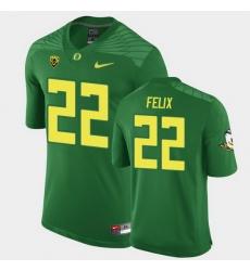 Men Oregon Ducks Darrian Felix Replica Green Game Football Jersey