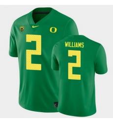 Men Oregon Ducks Devon Williams College Football Green Game Jersey