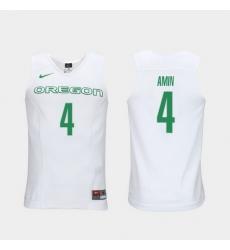 Men Oregon Ducks Ehab Amin White Elite Authentic Performance College Basketball Jersey