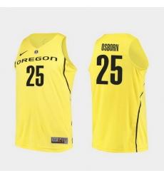 Men Oregon Ducks Luke Osborn Yellow Authentic College Basketball Jersey