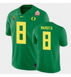 Men Oregon Ducks Marcus Mariota 2021 Fiesta Bowl Green Game Jersey 0A